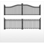 Aluminum Ornamental Fence Powder Coated Gate